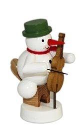 Rudolphs Schatzkiste Schneemann Musikant mit Cello Höhe 8 cm NEU Weihnachtsfigur Tischfigur Holz...
