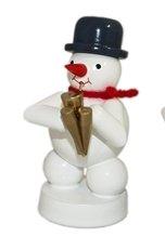 Schneemann Musikant mit Schalmei Höhe 8 cm NEU Weihnachtsfigur Tischfigur Holz Erzgebirge