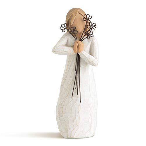 Willow Tree 26155 Figur Freundschaft, Natur, Polyresin, 3,8 x 3,8 x 14 cm