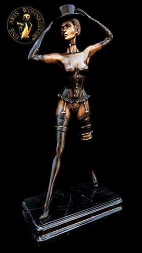FINE ARTS WOHNKULTUR Skulptur, Bronze, Erotik, Figur, Statue, Luxus, Deko, Show Dancer (Braun)