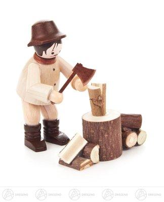 Miniatur Holzhacker natur Höhe ca 5,5 cm NEU Erzgebirge Weihnachtsfigur Holzfigur