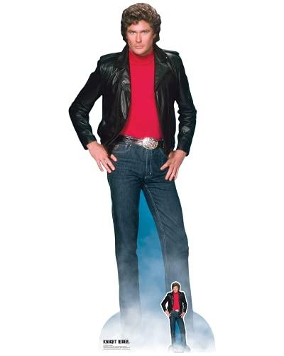 STAR CUTOUTS SC1381 Pappaufsteller Michael David Hasselhoff Knight Rider in Lebensgröße mit...