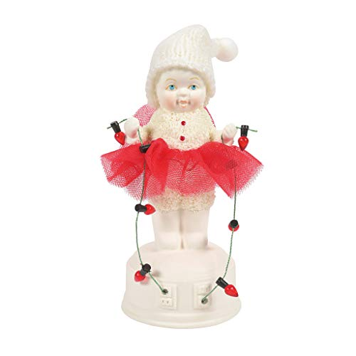 Department 56 Snowbabies Classics Christmas Memories Testing The Light Figur, Mehrfarbig, 5.51 Inch