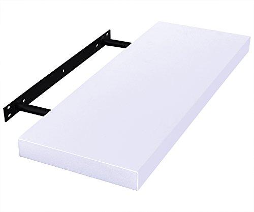 EUGAD 0039QJ Wandregal Wandboard Buchregal Hängeregal DVD CD Regal Holz Board 100cm lang weiß