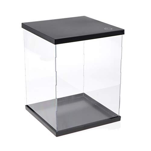 CUTICATE Vitrine Klare Acryl Display Box mit Licht Einzelvitrine Case Schaukasten Action-Figur...