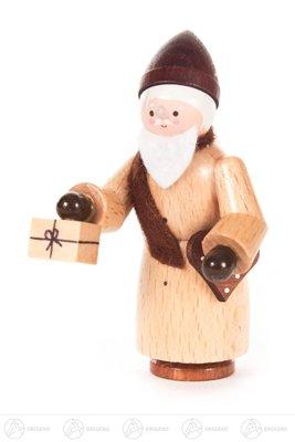 Weihnachtliche Miniatur Nikolaus natur Höhe ca 6,5 cm NEU Erzgebirge Weihnachtsfigur Holzfigur