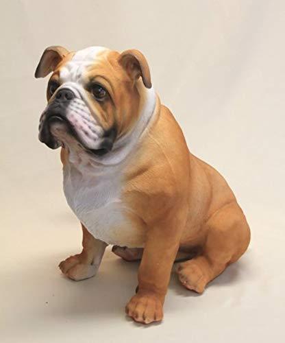 Vamundo Große Bulldogge sitzend XXL # Hundefigur # Tierfigur # wetterfest