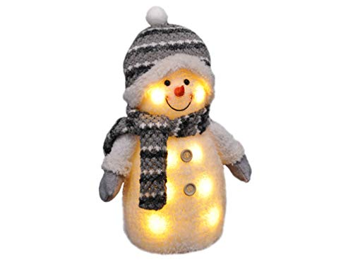 Gravidus - Süßer Schneemann mit Mütze, Schal & Handschuhen | Weihnachtsbeleuchtung,...