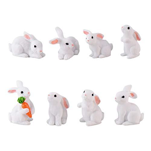 SOIMISS Mini Hase Figur Ostern Kaninchen Dekofigur Miniatur Osterhase Figur Tierfigur Blumentopf...