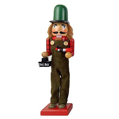 KEIBODETRD 38cm Holz Nussknacker Soldat Puppe Ornamente für Weihnachten Neujahr