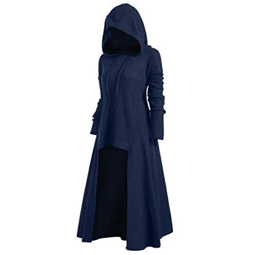NLZQ Damen Lose Umhang mit Kapuze Mantel Winter Herbst Mittelalterliches Gotisch Outwear...