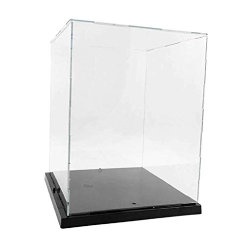 CUTICATE Vitrine Klare Acryl Display Box Einzelvitrine Case mit Licht Schutzbox Schaukasten...