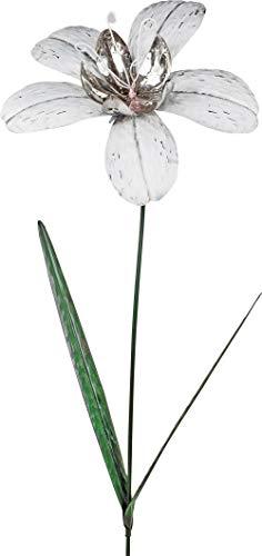 Bollweg Gartenstecker Blume Magerite weiß 120 cm Gartendeko Garten Dekoration