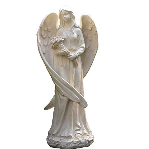 WQQLQX Statue Garten Engel Statue Skulptur Outdoor Garden Hausgarten Große Flügel Art Deco...