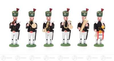 Miniatur Bergaufzug Musiker (6) Höhe ca 4,5 cm NEU Erzgebirge Weihnachtsfigur Holzfigur