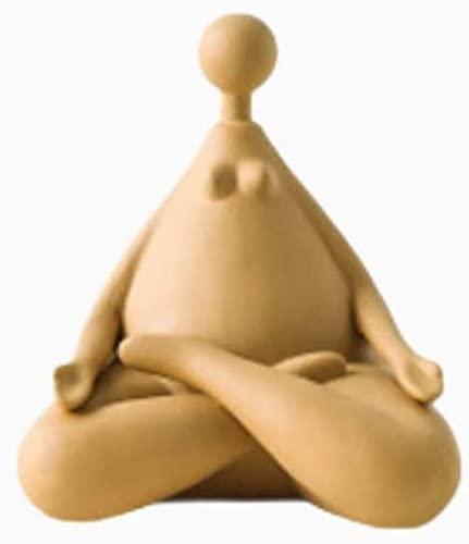 YANRUI Fat Yoga Figur Statue Keramik Skulptur Handwerk Dekoration Abstrakte Kunstfiguren Wohnzimmer...