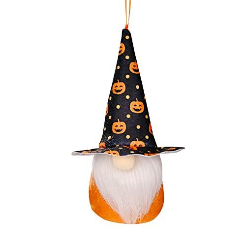 MRULIC Halloween Deko HäNgende Ornamente Wichtel Zwerg PlüSch Dolls Puppen Figur Festliche...