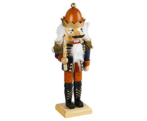 Weihnachtsdekoration Nussknacker König im klassischen Erzgebirge-Stil 45 cm groß Weihnachtsfigur...