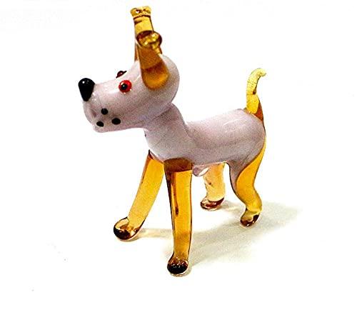 ZXZMONG Miniatur niedlichen Handgemachten Glas Hund Figuren Handwerk Ornamente Weihnachten Home...