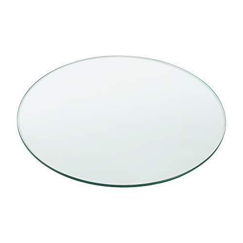 [neu.haus] Glasplatte Ø60cm Rund Glasscheibe Tischplatte ESG Glas Kaminplatte Kaminglas DIY Tisch