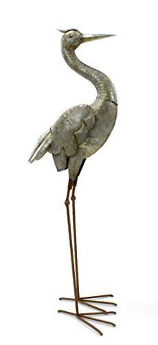 DARO DEKO Metall Skulptur Reiher 85cm edel-rost