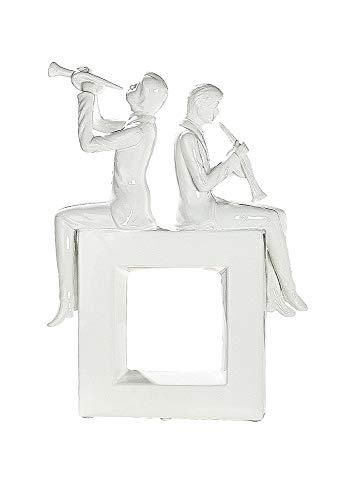 GILDE Elegance Skulptur Die Musiker - aus Keramik in weiß glänzend H 41 cm