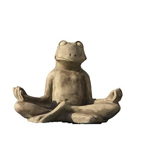 Yoga Frosch XXL, Tierfigur aus Steinguss
