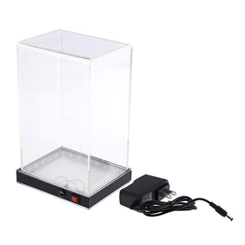 CUTICATE Acryl Vitrine Schaukasten Staubschutz Ausstellung Box mit LED-Licht für Sammelfigur Auto...