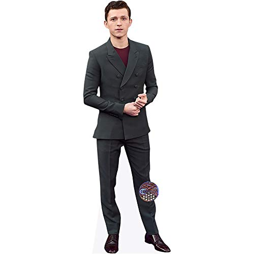 Celebrity Cutouts Tom Holland (Grey Suit) Pappaufsteller lebensgross