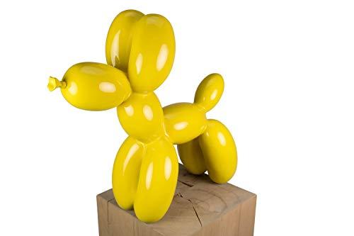KunstLoft® Skulptur 'Puppy Angel' in 46x50x18cm | Moderne Kunststein-Figur | Ballon Hund Gelb Tier...