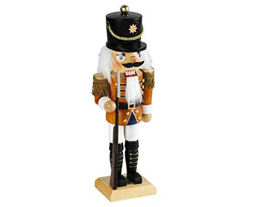 Weihnachtsdekoration Nussknacker Soldat im klassischen Erzgebirge-Stil 45 cm groß Weihnachtsfigur...