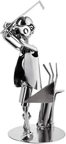 BRUBAKER Schraubenmännchen Golfer - Handarbeit Eisenfigur Metallmännchen Golf - Metallfigur...