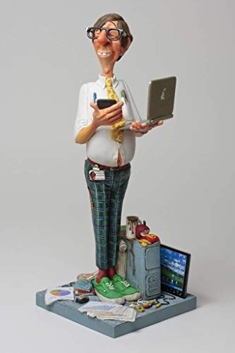Unbekannt Guillermo Forchino fo84009Figur Die Erfahrung von Computer, Kunstharz, Mehrfarbig, 20x...