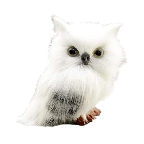 Toyvian Plüsch Eule Figur Owl Tierfigur Dekofigur Gartenfigur Weihnachten Deko Figur Tischdeko...