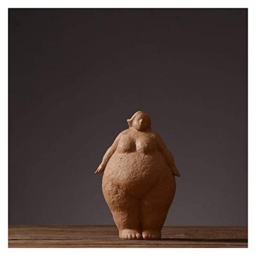 WQQLQX Statue Abstrakte Skulptur Yoga Fat Frau Statue Dekoration Zubehör Handwerk Desktop...