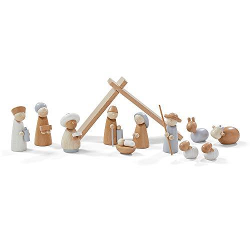 Haba Weihnachtskrippe   Spielkrippe   12 teilig   aus Holz