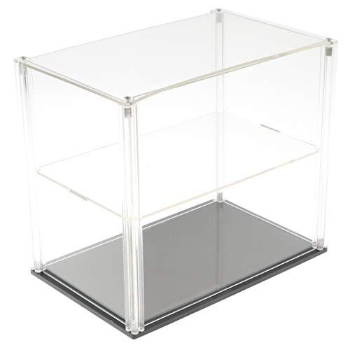 Homyl Transparenter Display-Schaukasten Vitrine Staubschutz Display Box mit schwarzem Sockel für...