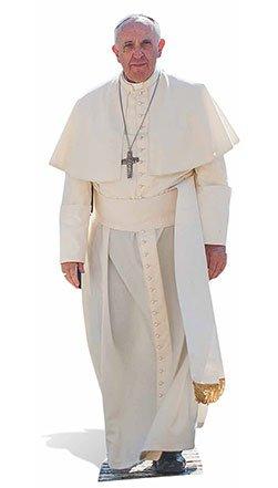 Star Cut Outs Lebensgroße Kartonausschnitt von Papst Franziskus, Mehrfarbig