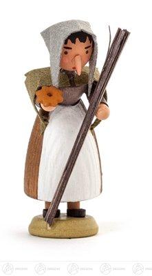 Miniatur Hexe Höhe ca 6 cm NEU Erzgebirge Weihnachtsfigur Holzfigur