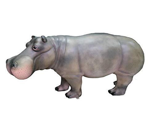XXL Nilpferd lebensgross 175cm Gartendeko Garten DEKO Figur Wow! inkl. Spedition