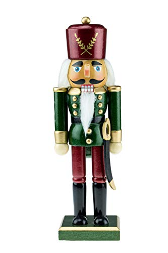 Clever Creations - Traditioneller Nussknacker-Soldat mit eleganter Militäruniform - aus Holz -...