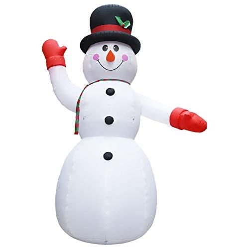 Honorall Aufblasbare Schneemänner LED Led Schneemann Beleuchtet Aufblasbar Snowman Outdoor...