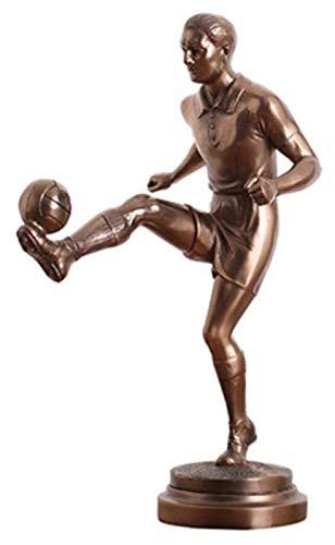 YANRUI Fußballspieler Statue Bronze Skulptur Kunst Figur Dekoration Dekoration Zubehör Geschenk...