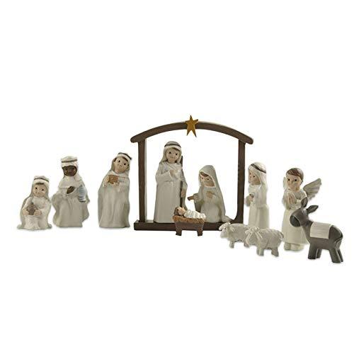 D/L Christus Geburt von Jesus Statue Set, detaillierte Harz Weihnachten Krippe Figur, Heilige...