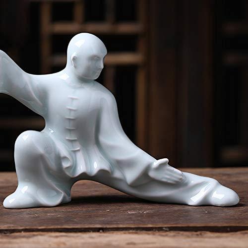 NanXi Statuen Skulptur Ornamente Moderne Kunst Kung Fu Man Miniaturfiguren Dekor/Chinesische Kultur...