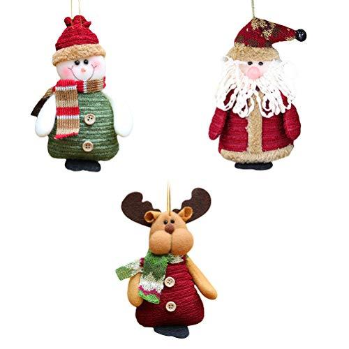 Toyvian 3 Stücke Weihnachtsbaum Anhänger Weihnachtsfigur Weihnachtsbaumschmuck...