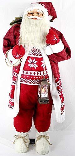 vom Pullach Hof Weihnachtsmann ca. 120cm Weihnachtsmänner mit Laterne oder mit Teddy Weihnachten...