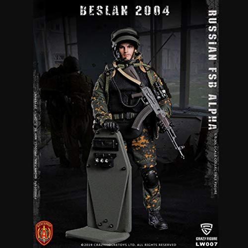 LRWTY 1/12 Skala Army Military Action-Figur, 6-Zoll-russische FSB Alpha Schild Soldat Flexible Male...