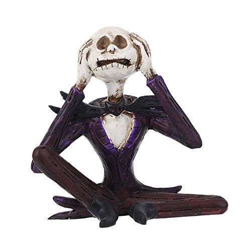 Hören Sie Keine Figur Statue Home Decorative Purple 5inch