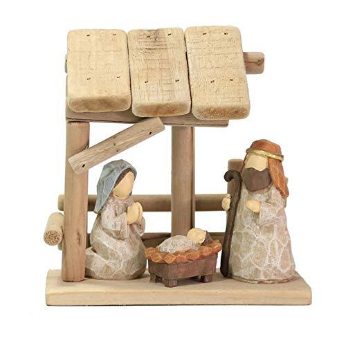 N/Z Krippen,Krippenset Aus Holz,Große Weihnachtskrippe,Handgemachte Holz Weihnachten...